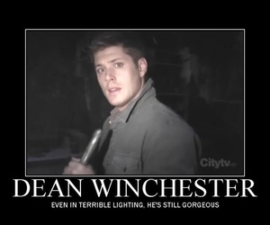 dean winchester, funny, and handsome image