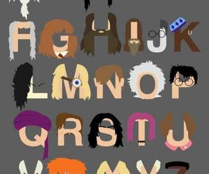 harry potter, alphabet, and potter image