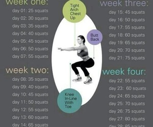 squats, workout, and challenge image