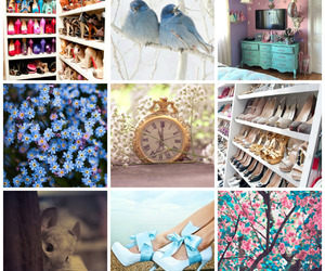 baby blue, glass, and baby pink image