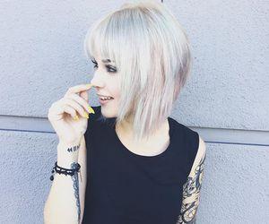 aesthetic, dyed hair, and white hair image