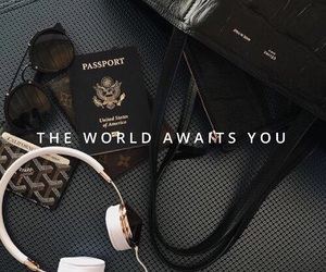 accessories, airport, and black and white image