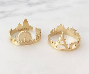 london, rings, and gold image