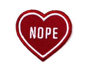 heart, no, and nope image