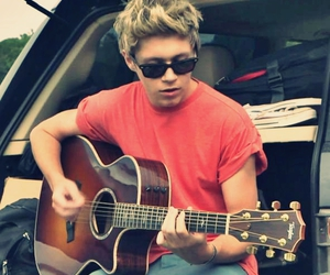 one direction, niall horan, and guitar image