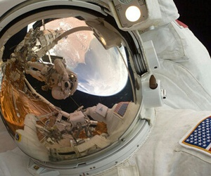 astronaut, space, and universe image