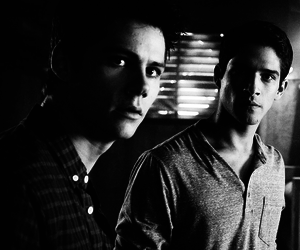 teen wolf, black and white, and tyler posey image