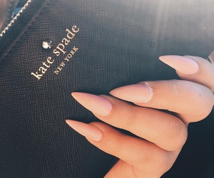 manicure, nails, and Nude image