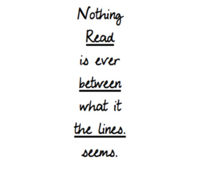 between, lines, and read image