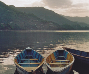 boat, nature, and photography image