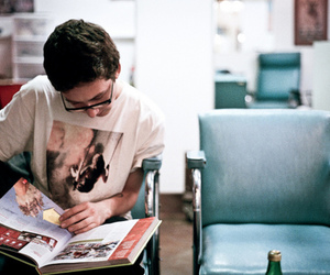 glasses, guy, and read image