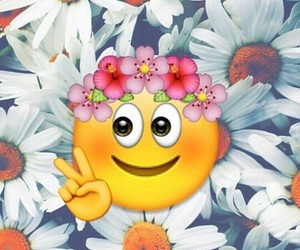 flowers and emoji image
