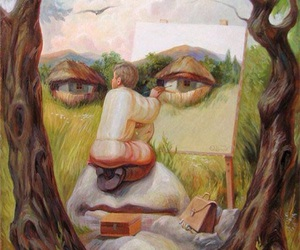art, painting, and illusion image
