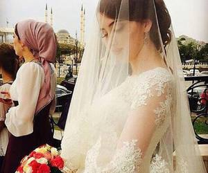 beauty, bride, and love image