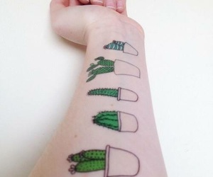 tattoo, cactus, and grunge image