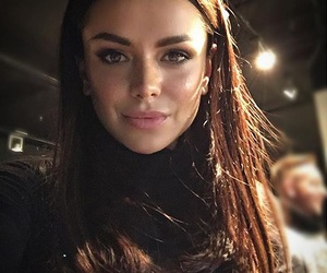 pretty, brunette, and turtleneck image