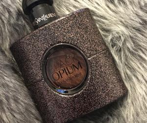 fur, perfume, and black opium image