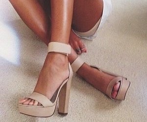 tan and shoes nude heels girl image