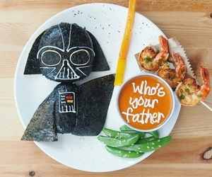 food, movies, and star wars image