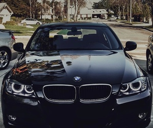 bmw, car, and black image