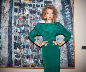 fashion, green dress, and by azzi & osta image