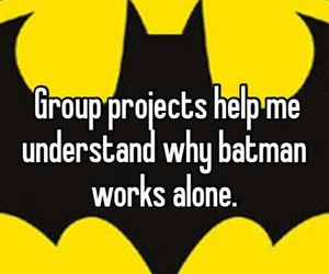 batman, funny, and alone image