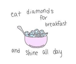 diamonds, breakfast, and pastel image