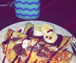 breakfast, yummi, and chocolate image