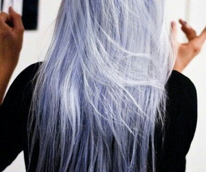 hair, blue, and grunge image