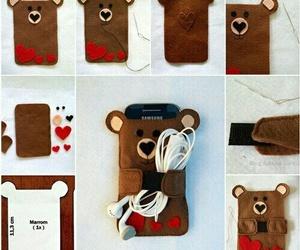 diy, phone, and bear image