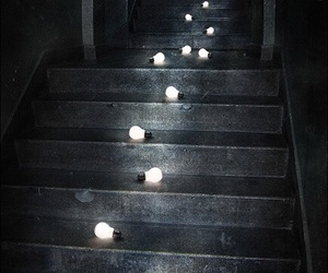 light, stairs, and dark image