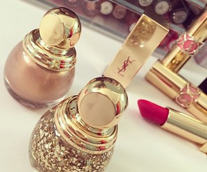 lipstick, make up, and YSL image