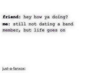 band, dating, and funny image