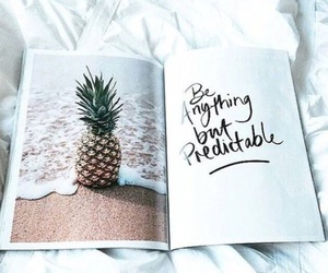 pineapple, quotes, and book image