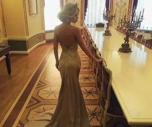 beauty, gowns, and blonde image