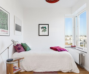 bedroom, bright, and decor image