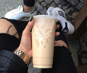 coffee, drink, and adidas image