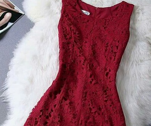 dress, red, and moda image