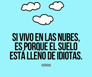clouds, frases, and idiot image