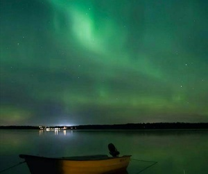 northern lights and north of sweden image