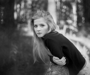girl, pretty, and black and white image