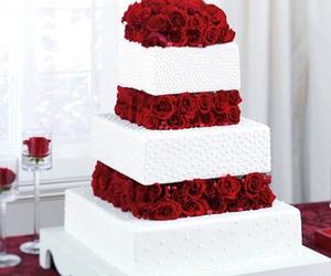 beautiful, wedding cake, and wan't it! image