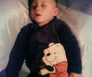 baby boy, winnie the pooh, and love image