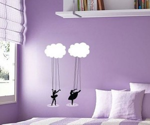 purple, ballet, and clouds image