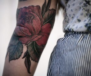 alternative, cute, and flower tattoo image