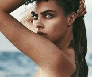beach, girl, and make up image