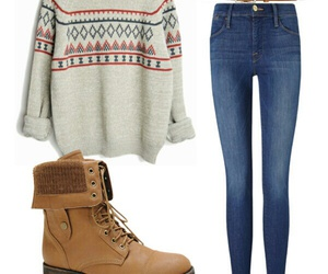 boot, jeans, and outfit image