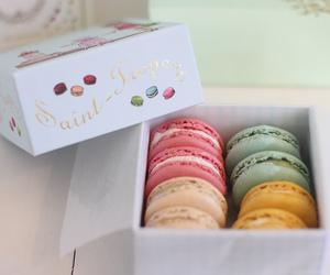 macaroons, food, and sweet image