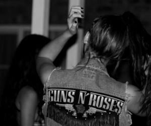 girl, Guns N Roses, and hair image