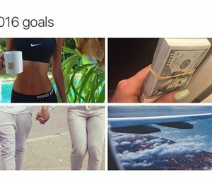 2016, goals, and money image